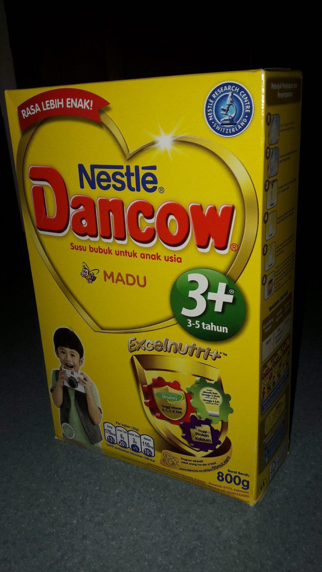 dancow excelnutri 3+ madu