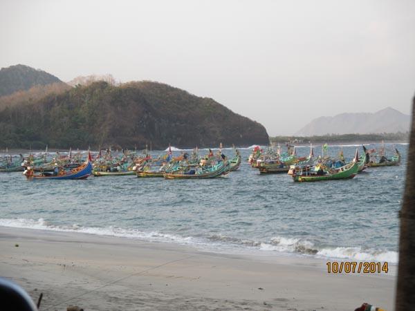 Perahun nelayan pantai papuma jember